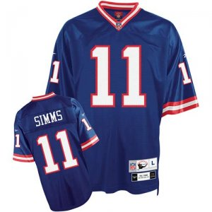 New York Giants #11 Simms Blue Stitch NFL Jersey