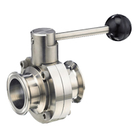 Stainless Steel Sanitary Clamped Butterfly Valve