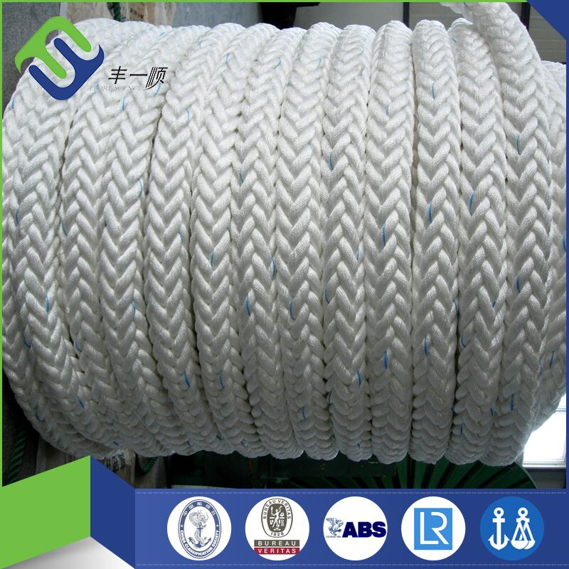 Supply high quality 8 strand marine ropes