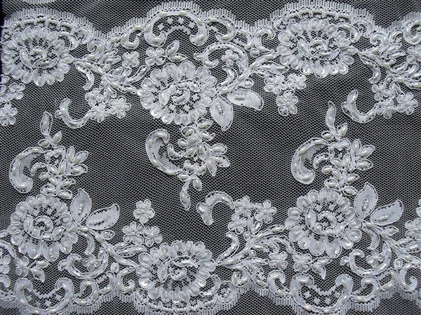 Sequined beaded fabric wore fabrics