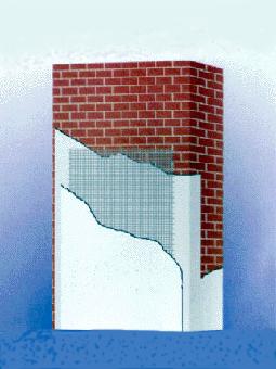 External wall external heat preservation glass fiber net clo