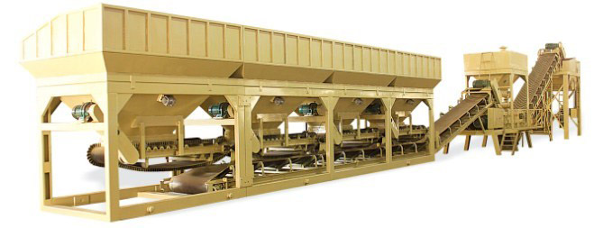 Modular stabilized mixing plant