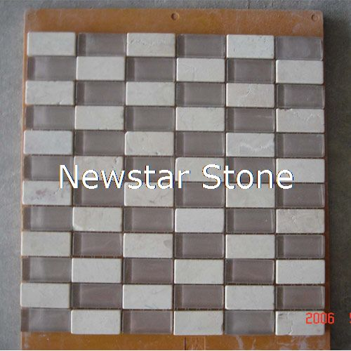 Mosaic with Glass,12x12,bathroom wall mosaic tile