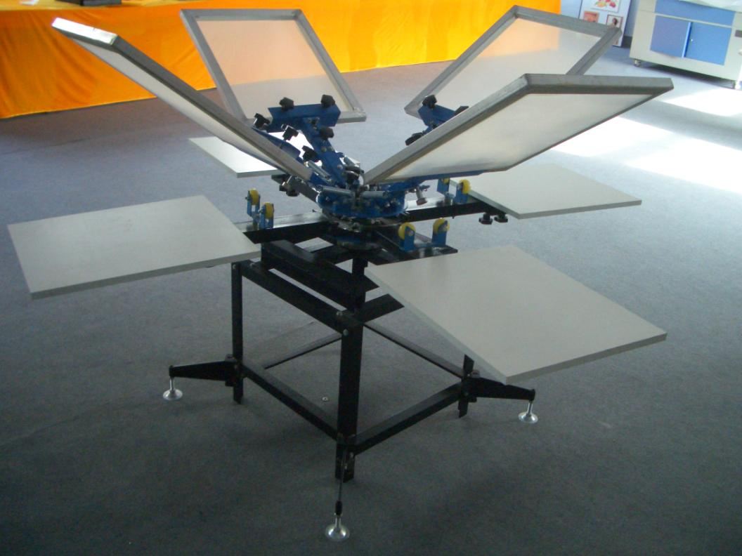 4 Color 4 Station Screen Printing Machine For T Shirts Screen