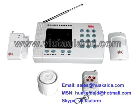 8 Zones Auto-dial Wireless Burglar Alarm System