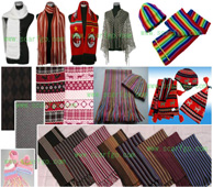 Supply scarves,hats,shawls,laces,fabrics,etc