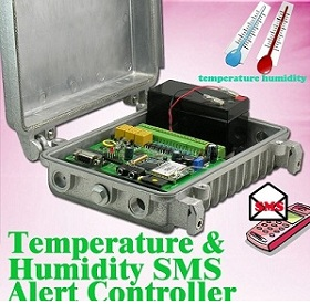 Temperature & Humidity SMS Alert Controller