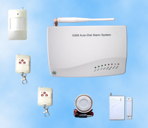 Wireless GSM Home Alarm System with Two Way Communicating Fu
