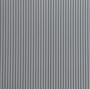 Fine ribbed rubber sheet