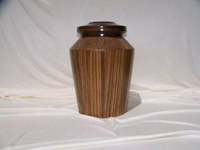 Zebra Wood Cremation Urn