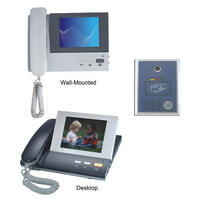 Desktop Color Video Door Phone with Access Control