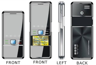 Dual sim Dual standby slide mobile phones ZG622