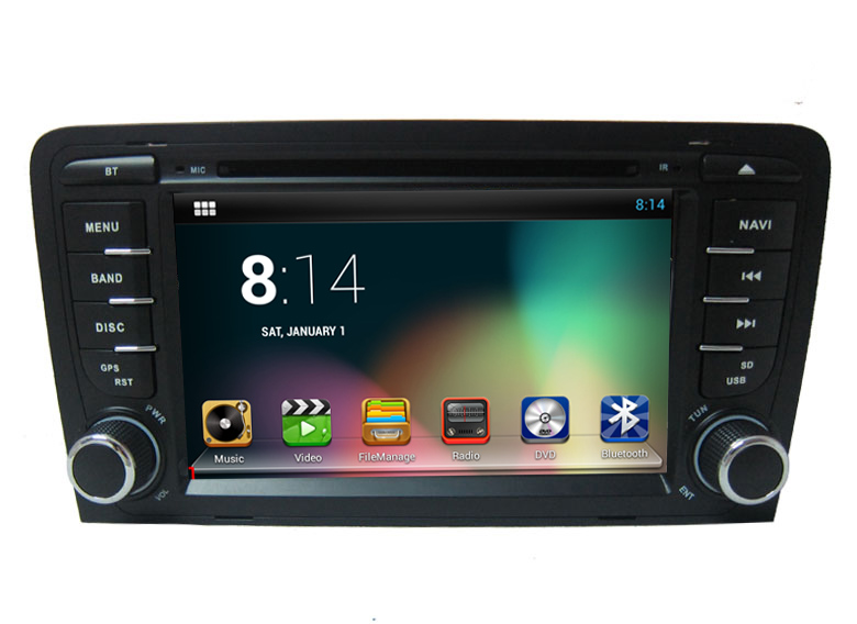 Android systerm 2 Din Car DVD Player for Audi A3