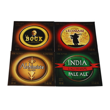 paper beer front label