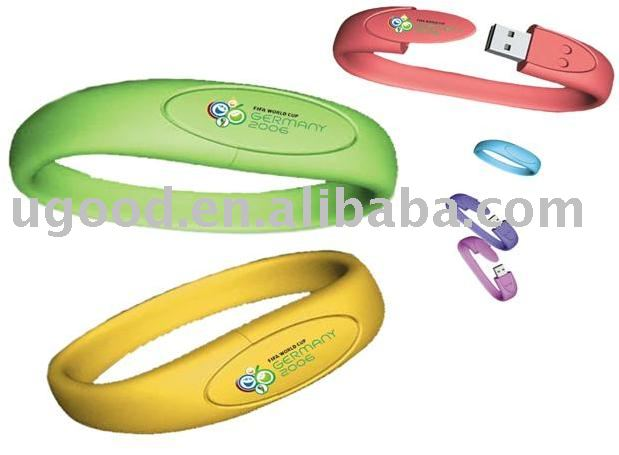 bracelet usb flash drive,PVC usb disk,pvc usb flash memory