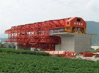 movable scaffolding system, beam launcher