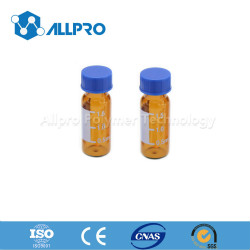 9mm Amber Autosampler Vial with Writing Patch