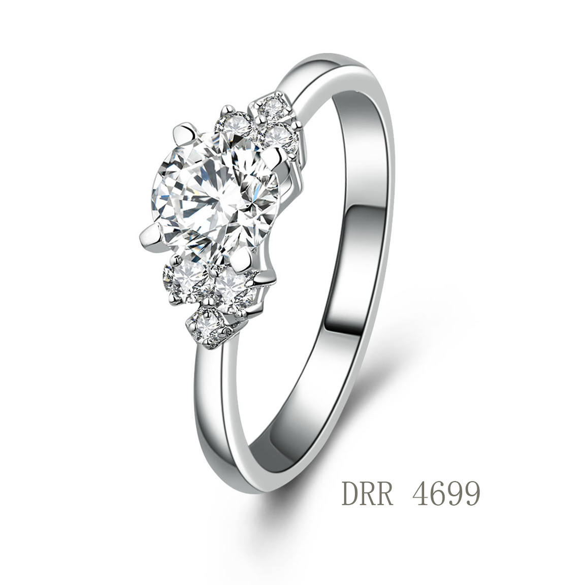 hot sale ring 925 sterling silver engement ring with cz
