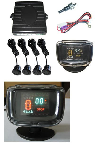 VFD/LCD display parking sensor system