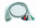 GE-Ohmeda 5L ECG Trunk cable with leads