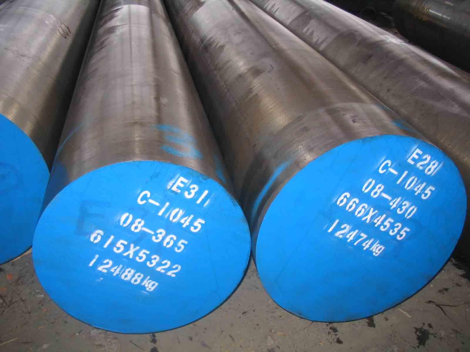 Forged steel round bar