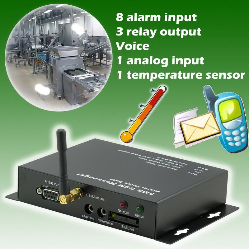 Temperature SMS Alarm Messenger