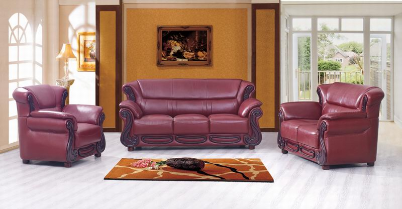 Leather Sofa  (321)