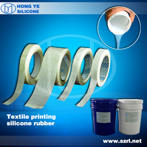Silicone rubber for coating textile