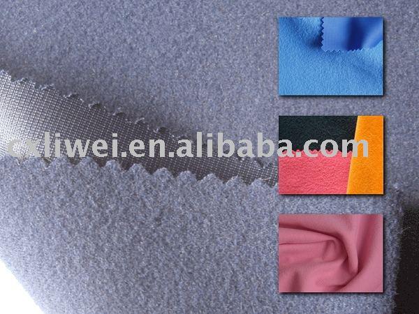 polyester warp knitted tricot super poly golden velvet stock