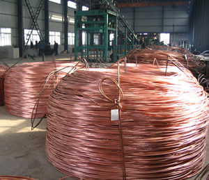 Low-oxygen copper rod