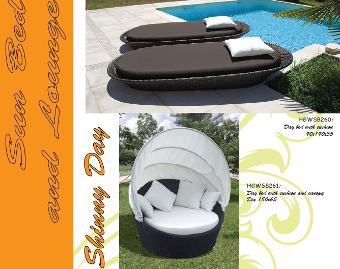 Synthetic rattan daybed