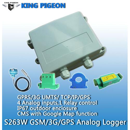 S263W GSM GPRS 3G WCDMA UMTS GPS Analog data logger
