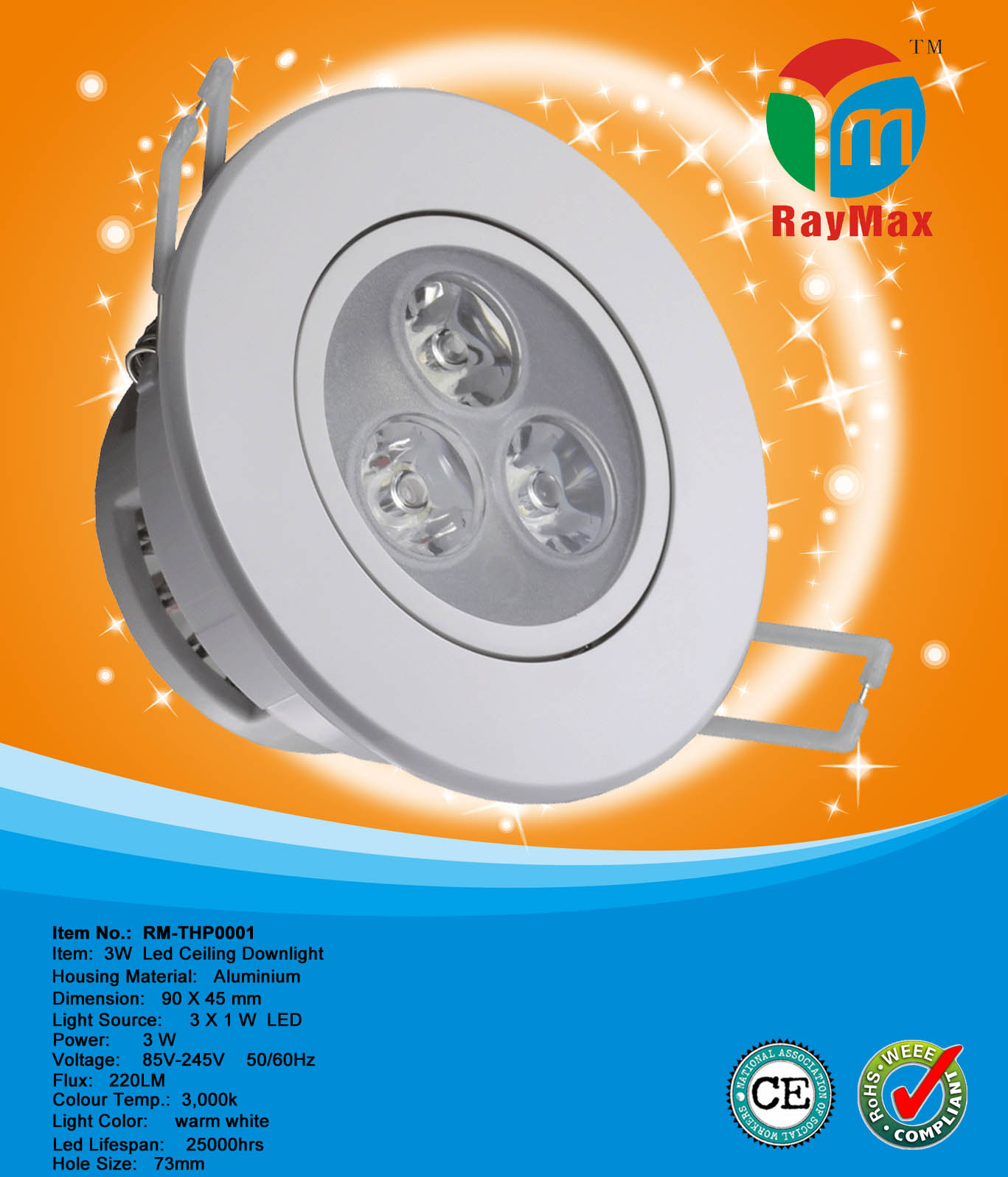 3W LED CEILING DOWNLIGHT