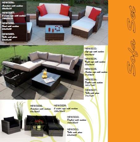 New poly rattan sofa Vietnam