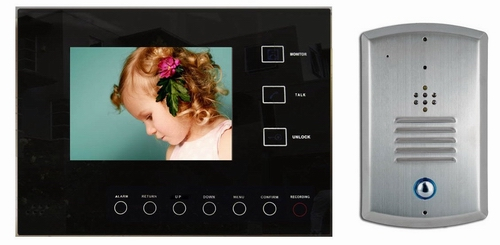 video reocording intercom system with touch function button
