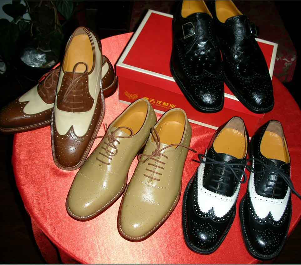 handmade goodyear welted men leather shoes