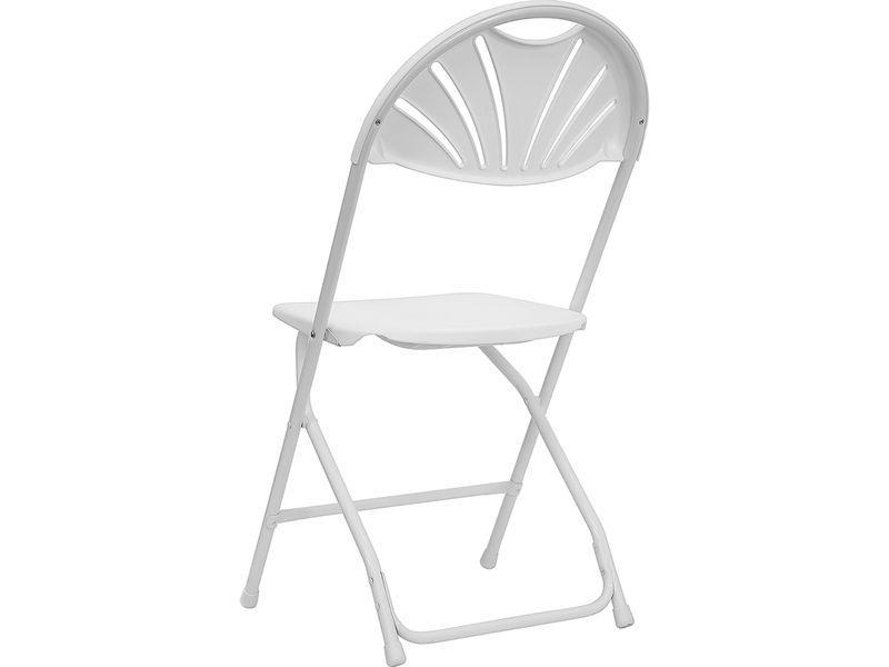 Plastic Fan-Back Folding Chair