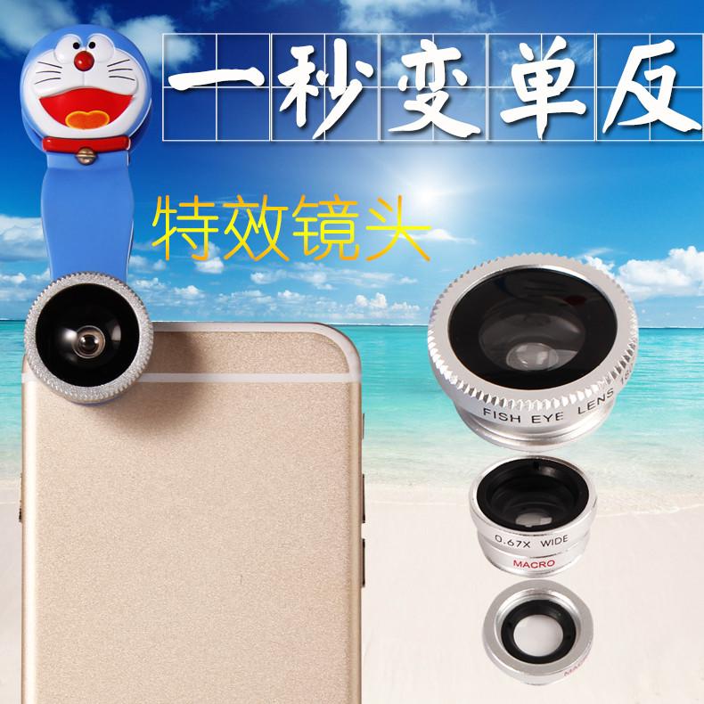 2015 Newest Universal Selfie Clip Cam Lens 3 in 1 Fisheye Wi
