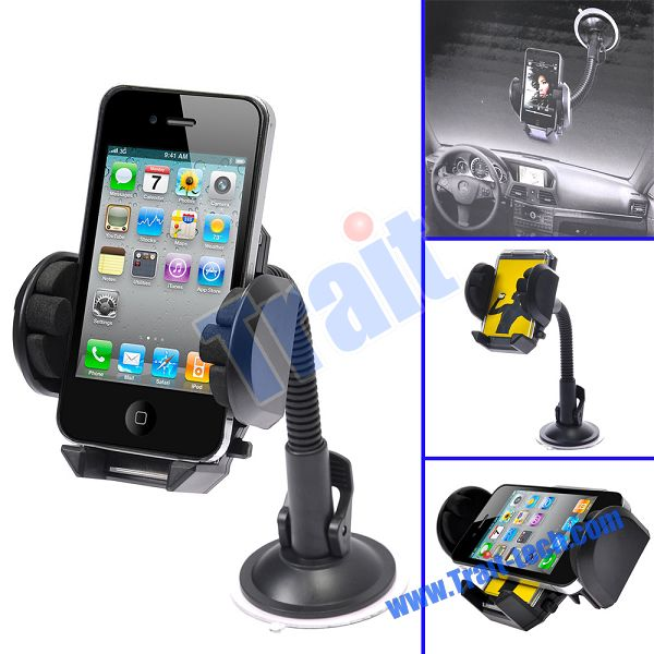 Mobile Phone WindShield Mount Car Holder with Suction Cup