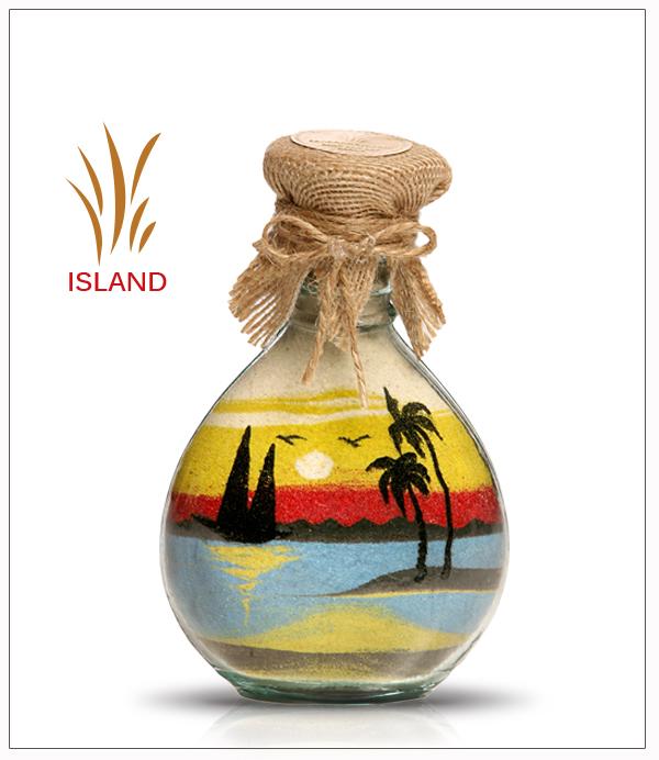 Glass Sand Bottles