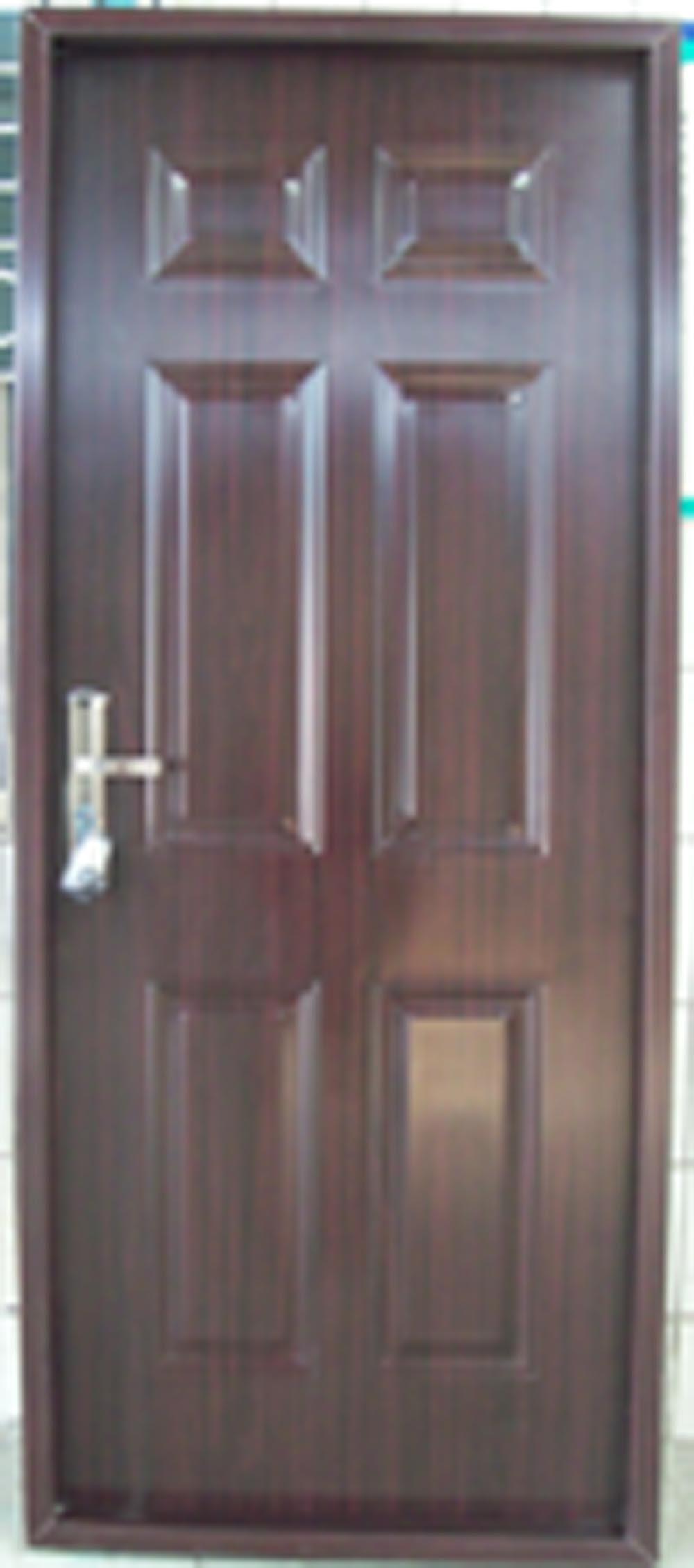 6 Panel Pvc Steel Door Pvc Coated Door