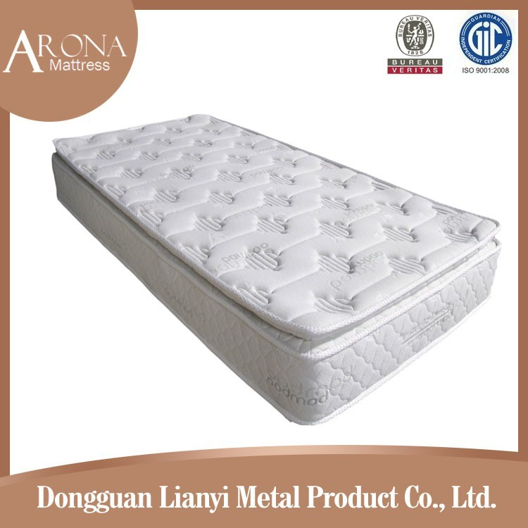 Single bamboo pillow top latex pocket spring mattress from C