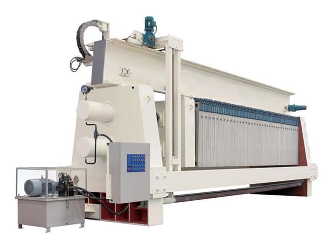 Type 1500 over-beam PP high pressure membrane filter press