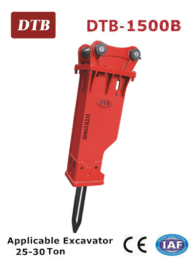 DTB 1500B hydraulic hammer for 25-30 ton excavator