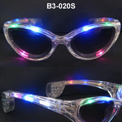 LED flashing sunglasses
