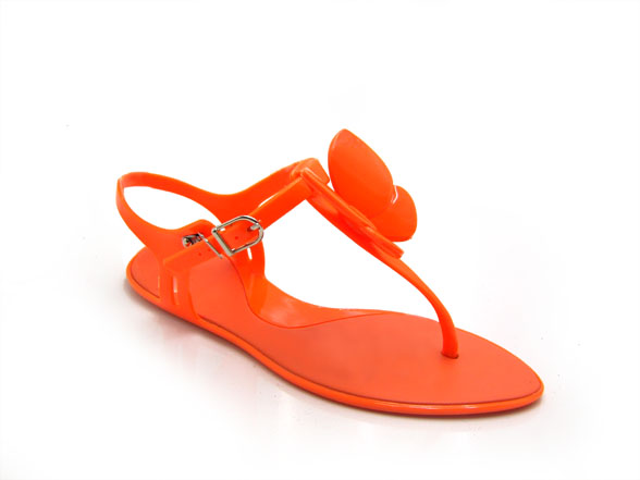 pvc lady's jelly sandals