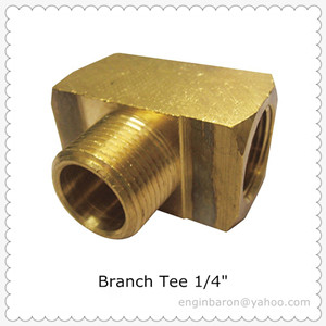 Brass Branch Tee,1/4