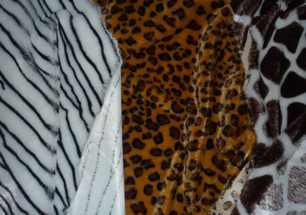 pv plush with animal printing