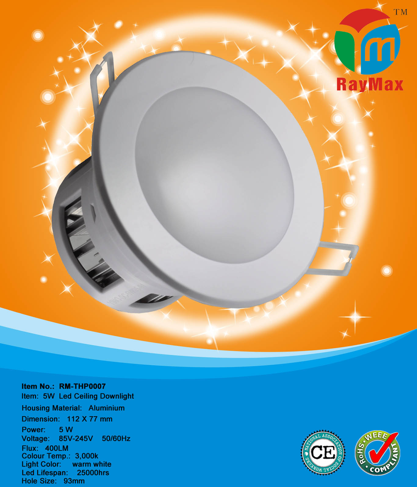 5W POWER LED SPOT DOWNLIGHT