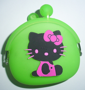 2011 Novelty Silicone Wallet Coin Purse Pouch